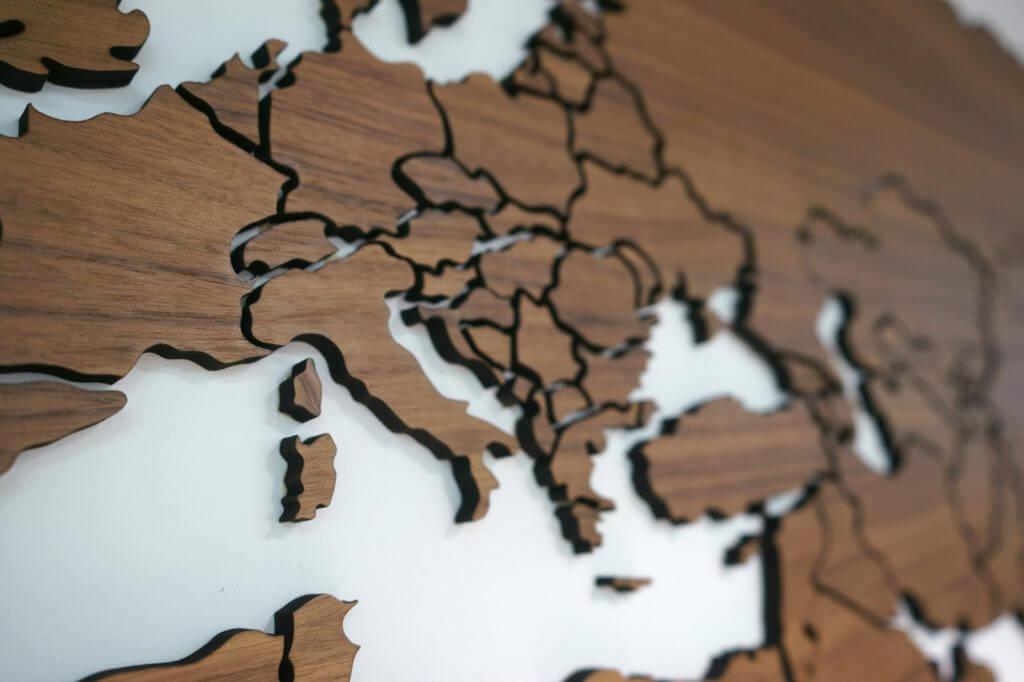 Страны на карте
