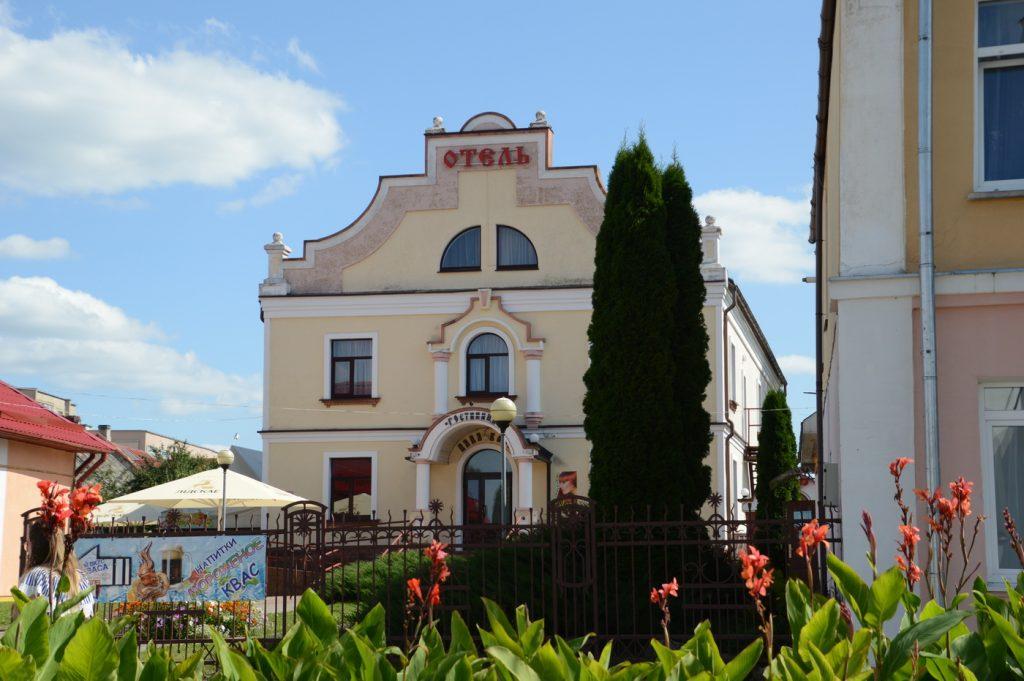 Дятлово, отель, буквы реклама
